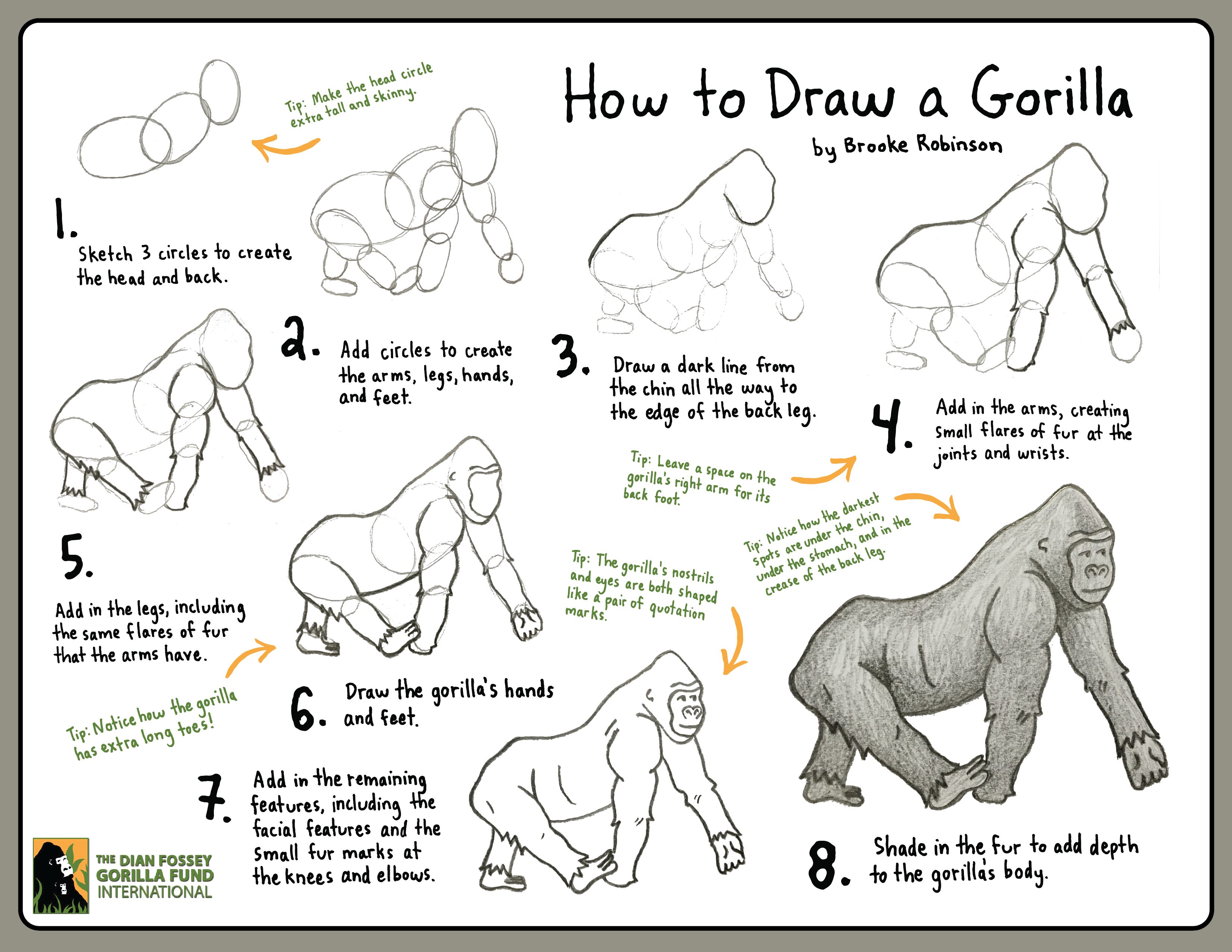 This is a photo of Accomplished Picture Of Gorilla Drawing A Picture