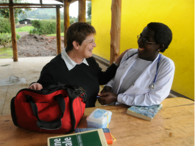 Dr. Mary Horder at the Bisate Health Center in 2011