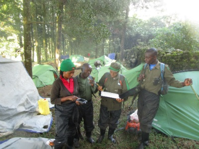 Team members plan the recce at camp on Nov. 24, 2015.