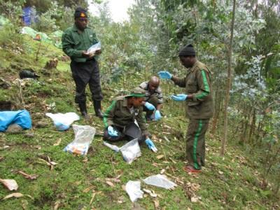Gudula Nyirandayambaje transfers samples for later analysis.