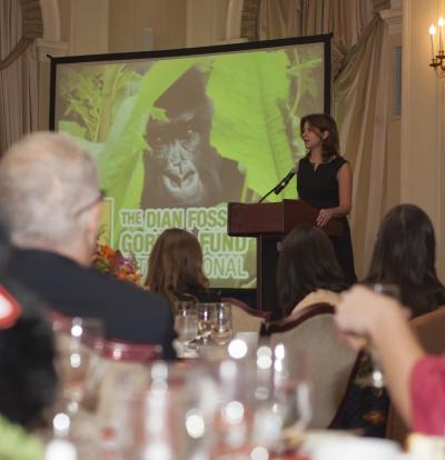 Dr. Tara Stoinski at Fossey Circle luncheon
