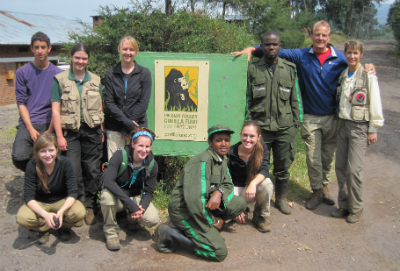 Students from Arizona University's Primate Studies Field School, with Dieter and Netzin Steklis (far right