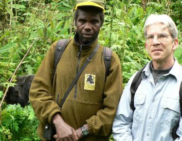 Faustin Barabwariza and former KRC director David Watts, Ph.D.