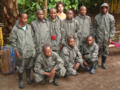 One of the Fossey Fund's teams in Congo