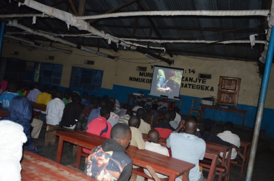 Conservation movie showing in local community