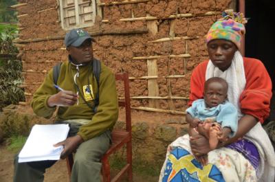 Ildephonse Munyarugero conducting an interview
