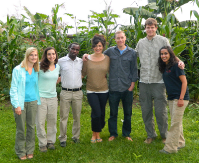 Six students from Emory University worked at Karisoke this spring