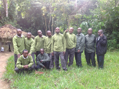 Fossey Fund field team in new outfits