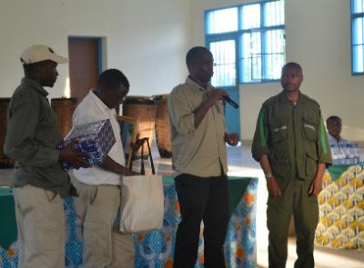Fundi honored at the Karisoke holiday party