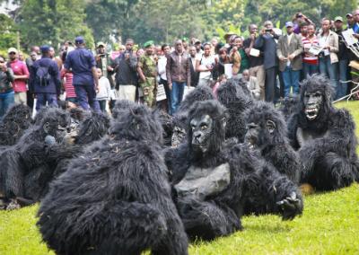 Children dressed as infant gorillas to be named at Kwita Izina