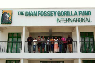 Rwandan biology students attending Karisoke's field research course