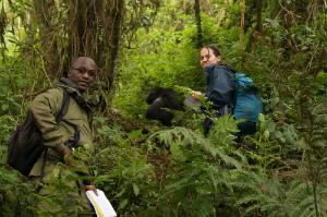 Winnie Eckardt, Ph.D. with Research Assistant Didier Abavandimwe