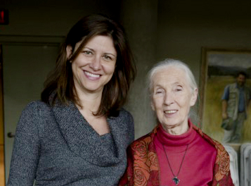 Fossey Fund CEO Dr.Tara Stoinski with Dr. Jane Goodall