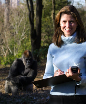 Tara Stoinski, Ph.D. and Ozzie at Zoo Atlanta