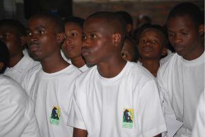 Didier Sibomana and his winning team