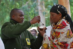 Fossey Fund staff help