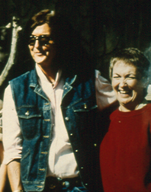 Dian Fossey and Charlene Jendry at the Columbus Zoo