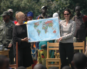 Jendry and Dr. Katie Fawcett at the Bisate School