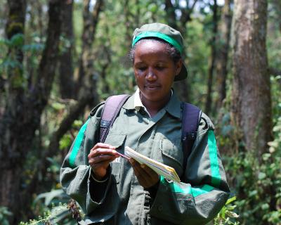 Theodette Gatesire in the field