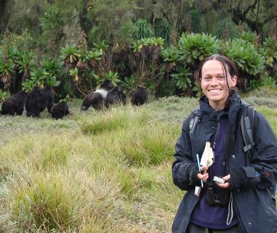 Winnie Eckardt, Ph.D., in the field
