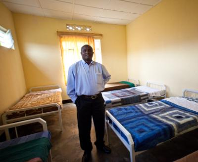 Program Manager Ildephonse Munyarugero in the new ward