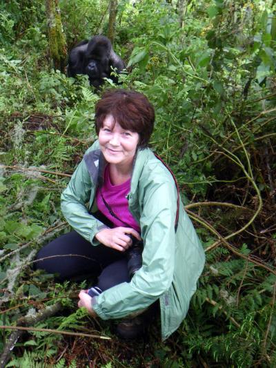 Kathleen C. Rautiainen and gorilla