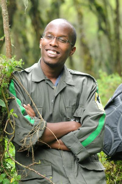 Felix Ndagijimana in the field