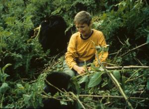 Charlene Jendry at Karisoke in 1992
