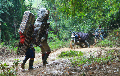 Taking supplies to a new field station in the Congo