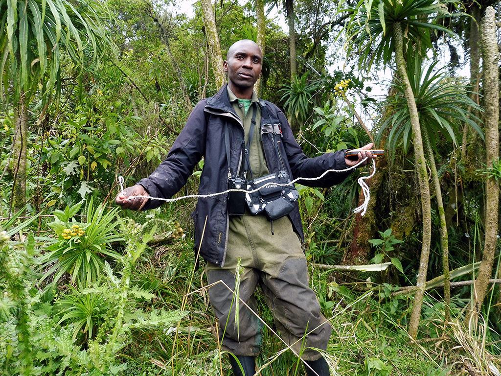 Jean Bosco holding rope from the snare
