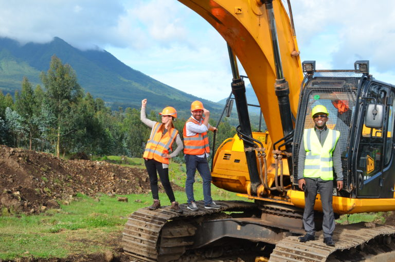 Fossey fund's team at the campus construction site 20-Feb-2020 KRC Cedric (43)