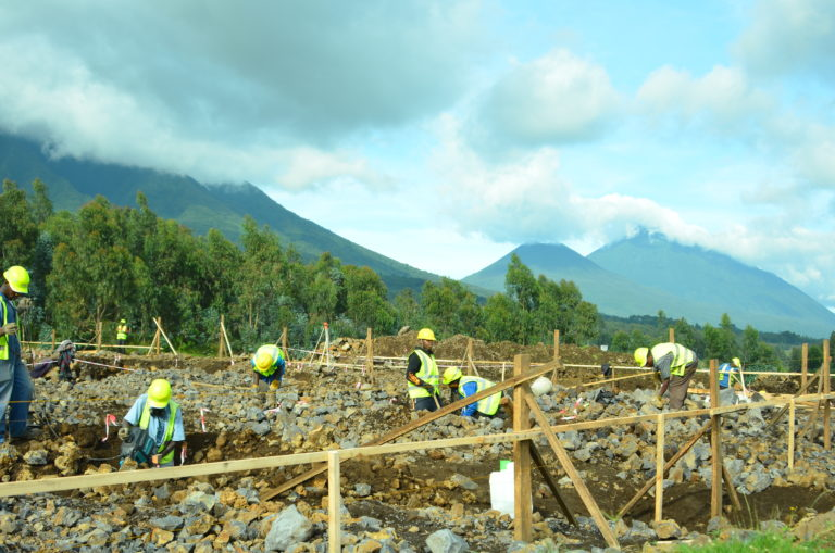 Fossey fund's team at the campus construction site 20-Feb-2020 KRC Cedric (61)