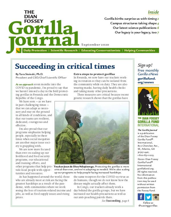 Gorilla Journal Newsletter September 2020