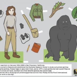 Dian Fossey Paper Doll