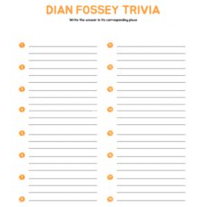 Dian Fossey Trivia